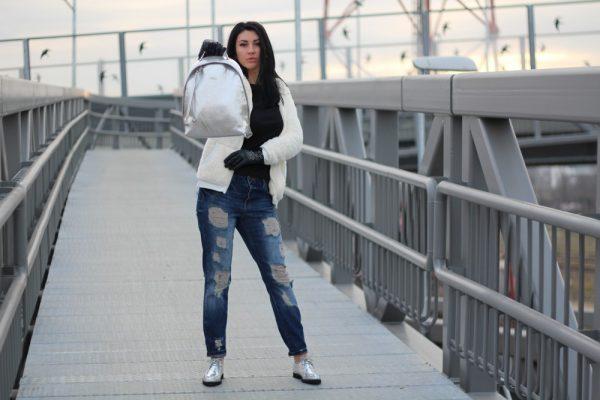 My new crush: a shiny Furla Spy Backpack