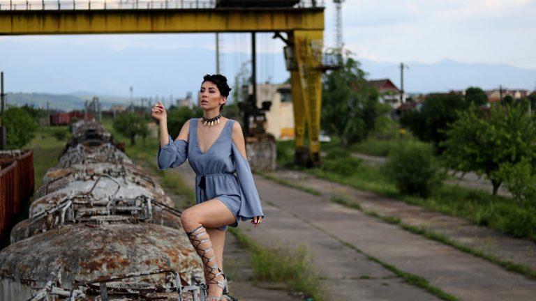 Rocking a Chic Blue Jumpsuit 1